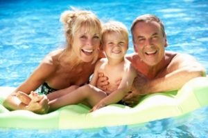 Family fun in the pool - Granny Flat Masters, Perth